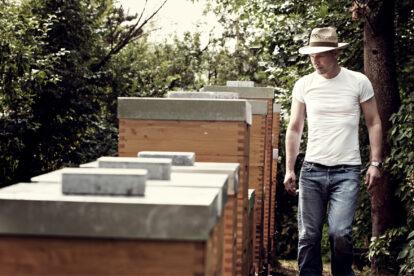 Thomas Zelenka bei seinen Bienen